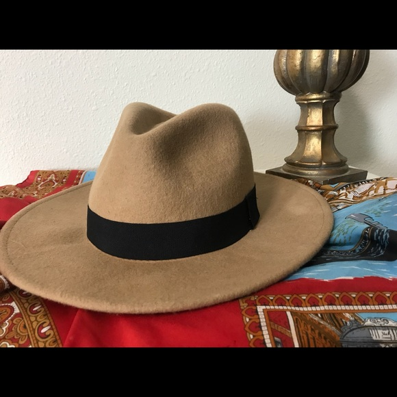 759aa0af270 Aldo Accessories - Camel felt rancher style hat with black band